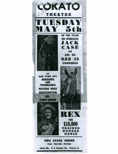 Jack Case archive: flyer for show with Dad Rex and Mom